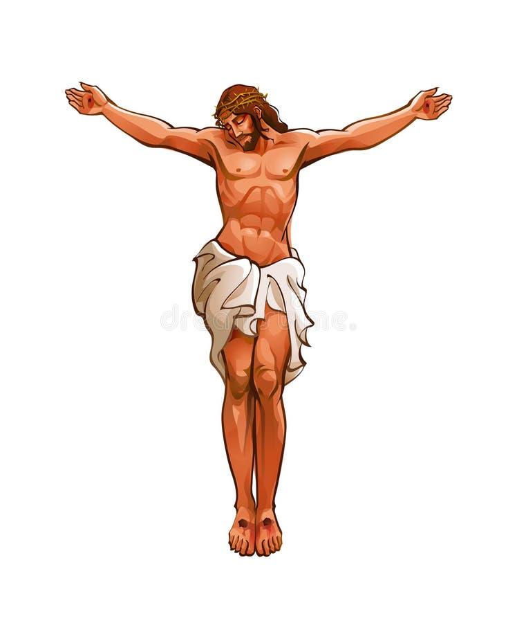 Close-up van Jesus-Christus stock illustratie