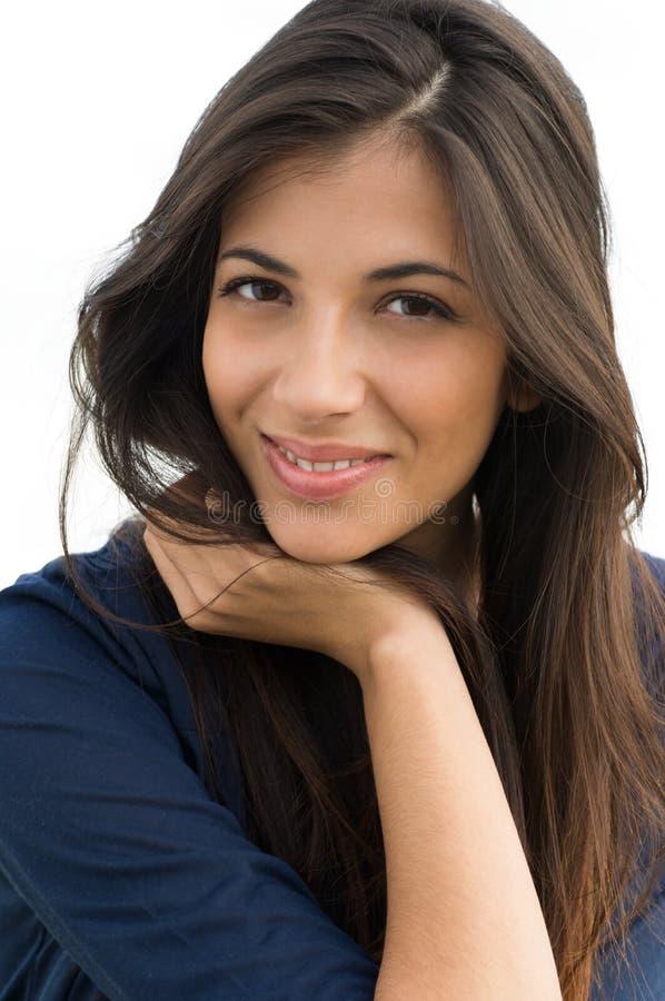 Close-up van jonge vrouw royalty-vrije stock afbeeldingen