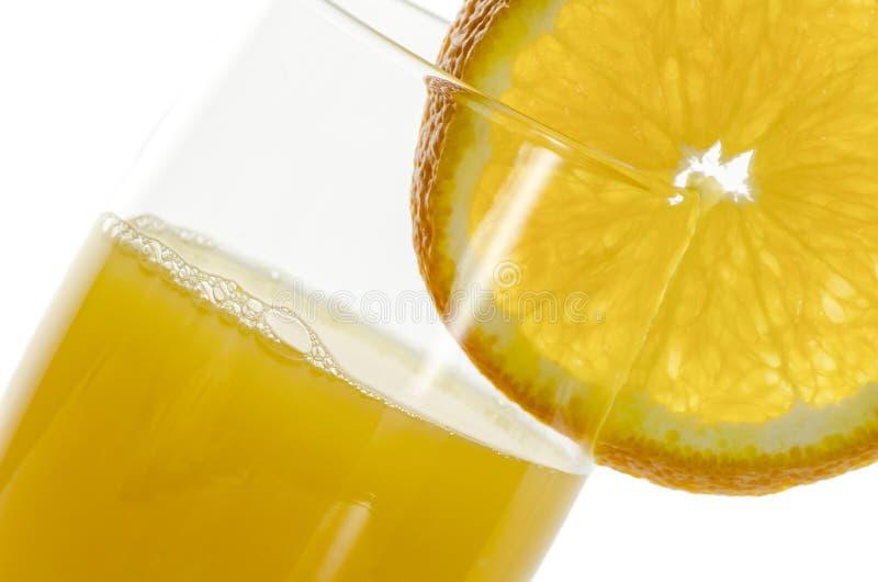 Close-up van jus d'orange stock afbeelding