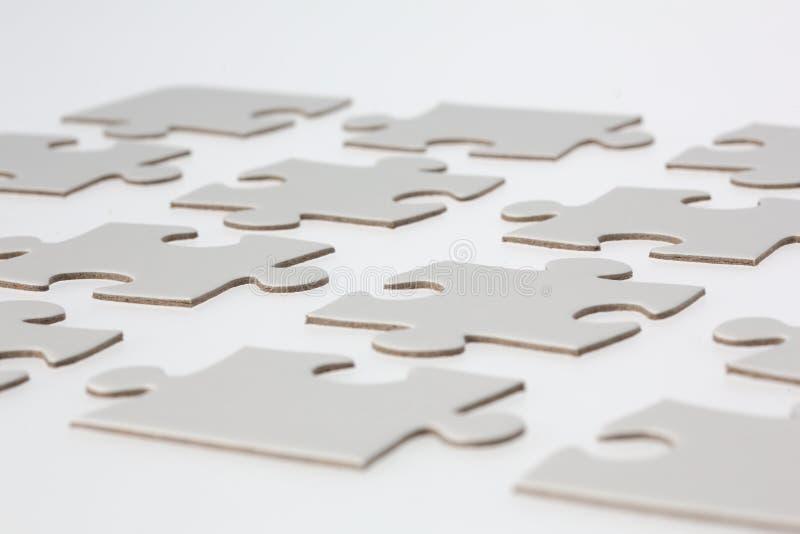 Close-up van de Witte Stukken van de Puzzel stock afbeelding