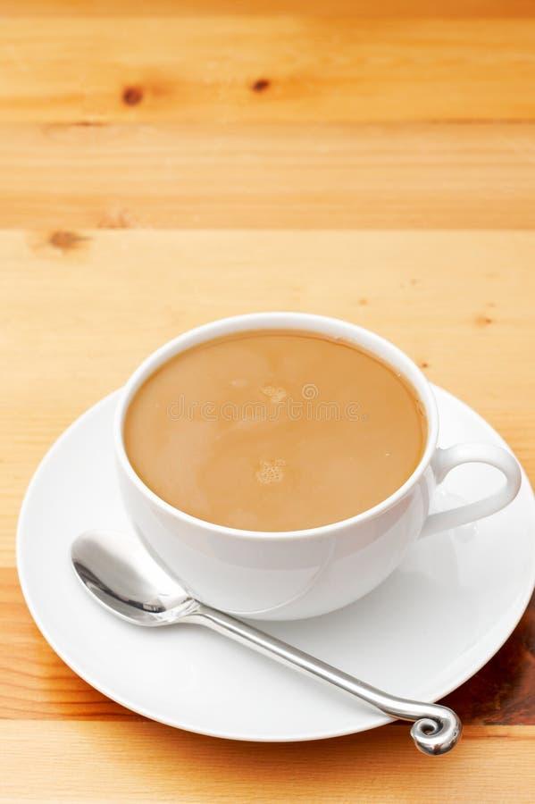 Close-up van koffie met melk royalty-vrije stock fotografie