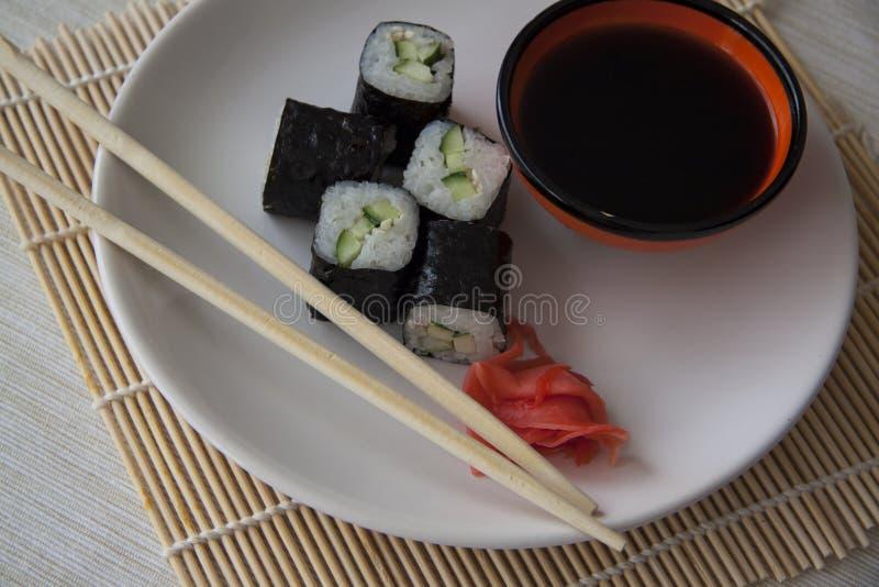 Close-up van komkommerbroodjes royalty-vrije stock afbeeldingen