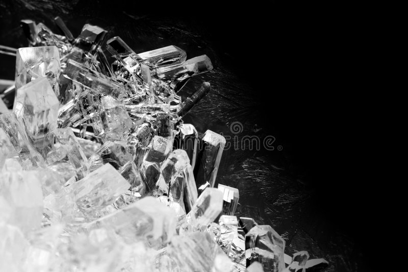 Close-up van kristallen stock afbeeldingen