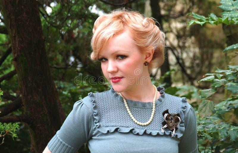Close-up van Meisje in Aard royalty-vrije stock fotografie