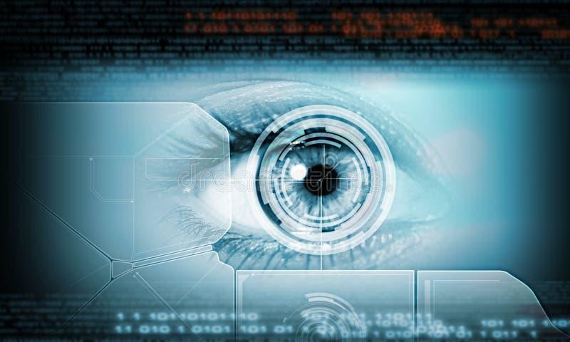 Close-up van menselijk oog stock afbeeldingen