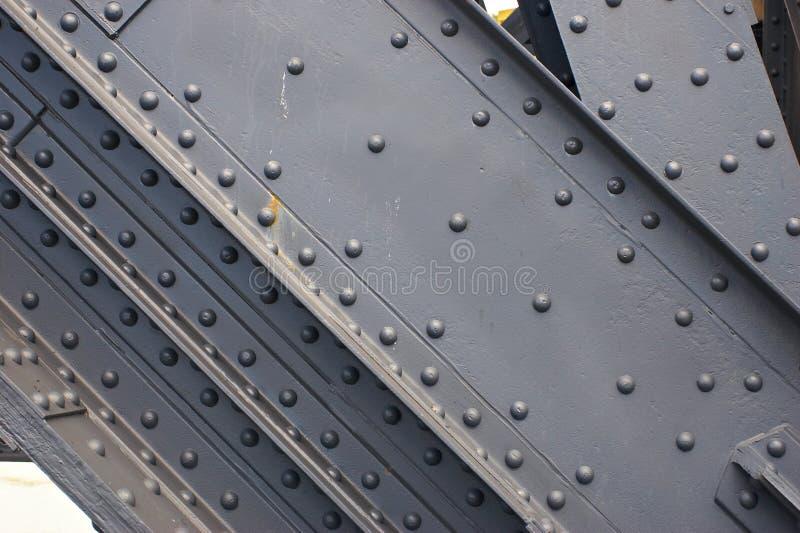 Close-up van metaalbouw stock foto's