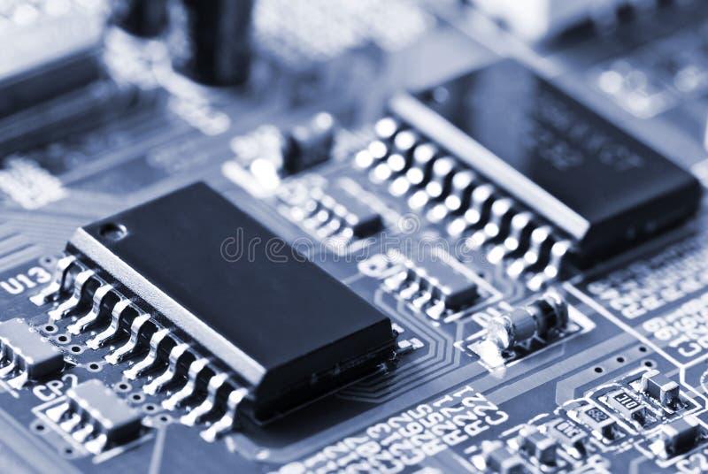 Close-up van motherboard royalty-vrije stock afbeeldingen