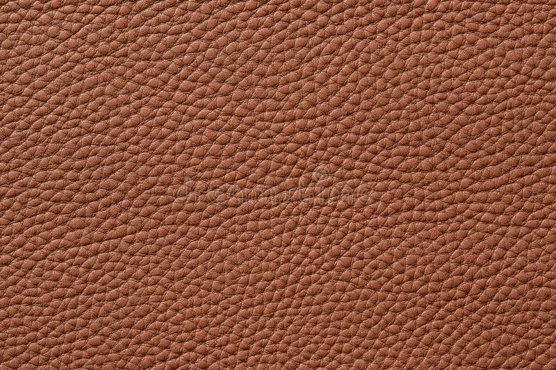 Close-up van naadloze bruine leertextuur stock foto's
