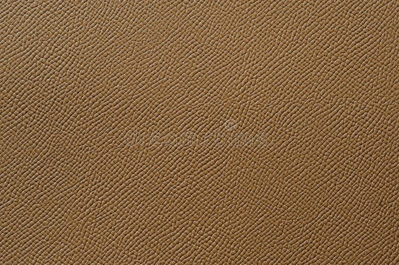 Close-up van naadloze bruine leertextuur royalty-vrije stock foto's