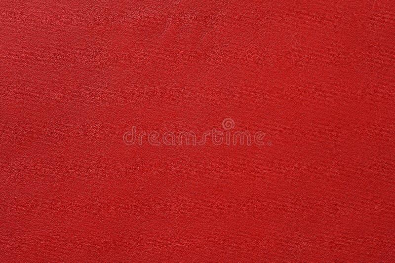 Close-up van naadloze rode leertextuur royalty-vrije stock fotografie