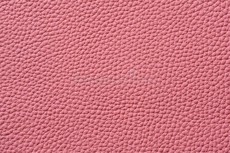 Close-up van naadloze roze leertextuur royalty-vrije stock afbeelding