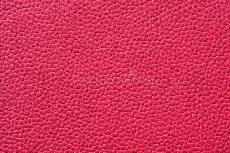 Close-up van naadloze roze leertextuur royalty-vrije stock afbeeldingen