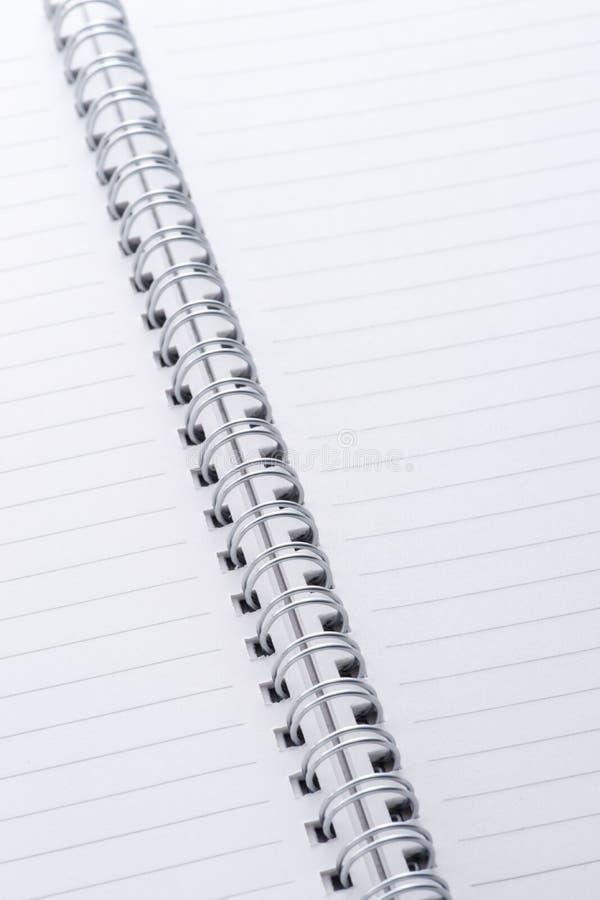 Close-up van notitieboekje royalty-vrije stock afbeeldingen