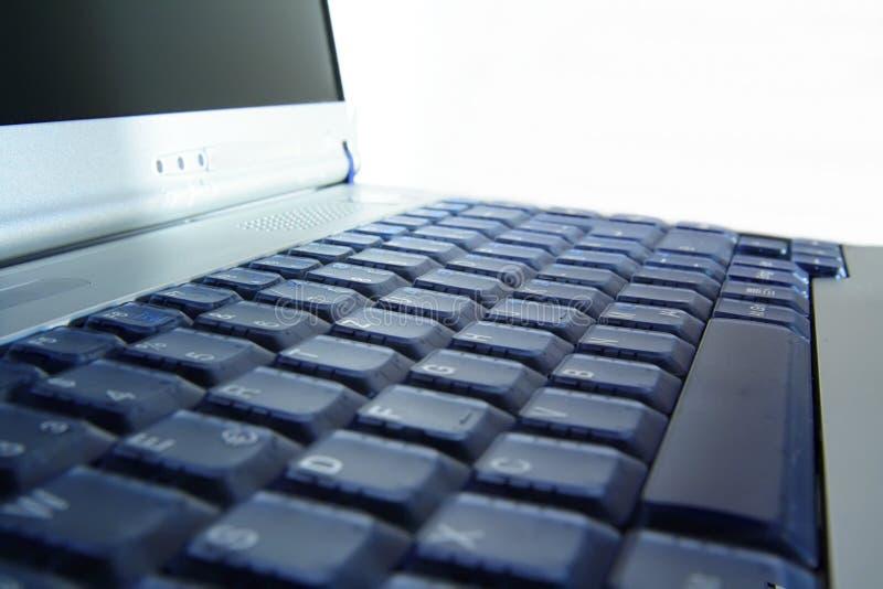 Close-up van notitieboekje/laptop stock afbeeldingen