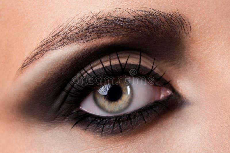 Close-up van oog royalty-vrije stock foto's
