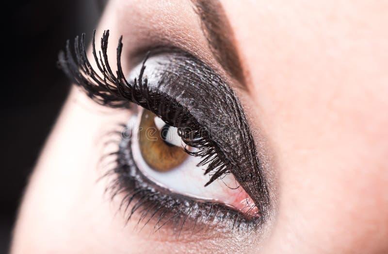Close-up van oogmake-up royalty-vrije stock fotografie