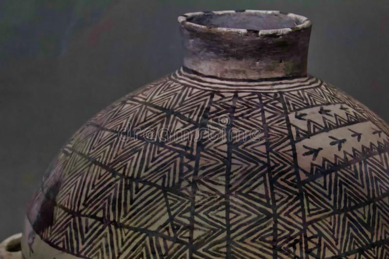 Close-up van Oude Graankruik stock afbeeldingen