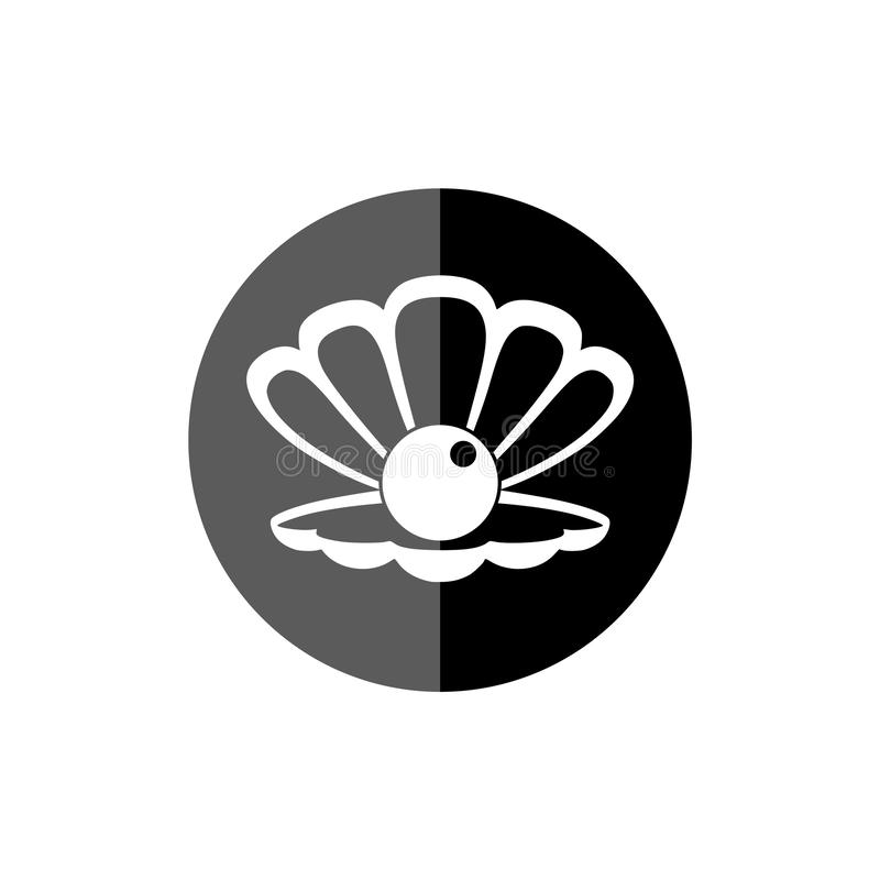 Close-up van Parel en het pictogram of de knoop van Shell vector illustratie