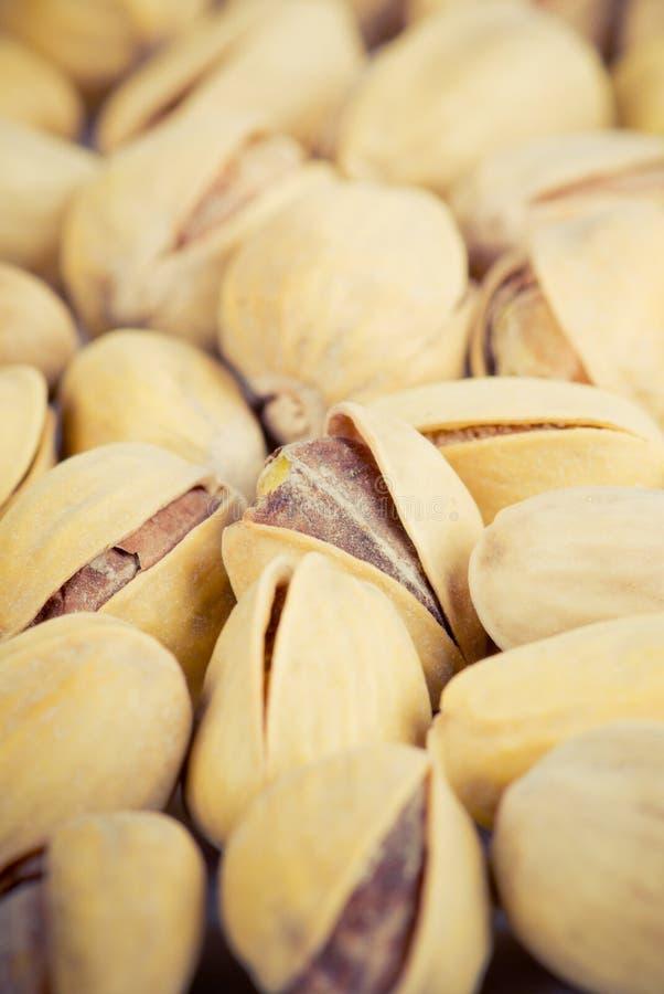 Close-up van pistaches stock afbeelding