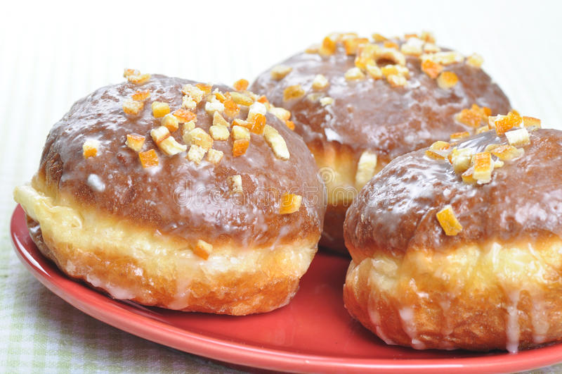 Close-up van poetsmiddel donuts. stock afbeeldingen