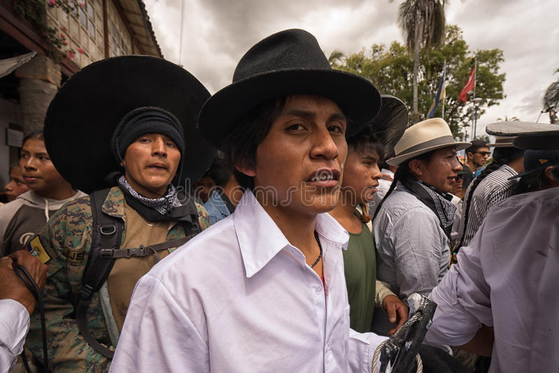 Close-up van quechua mensen in openlucht royalty-vrije stock foto