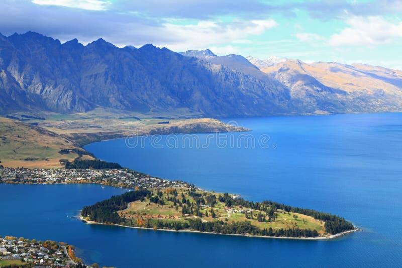 Close-up van queenstown Nieuw Zeeland royalty-vrije stock foto's