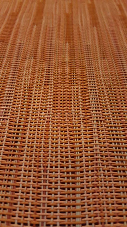 Close-up van rieten wevend patroon stock afbeelding