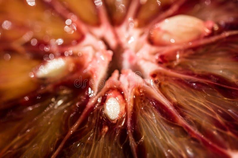 Close-up van rijpe sappige Siciliaanse Bloedsinaasappelen royalty-vrije stock foto