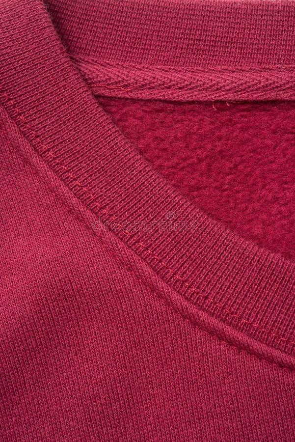 Close-up van Rode Overhemdskraag stock afbeeldingen