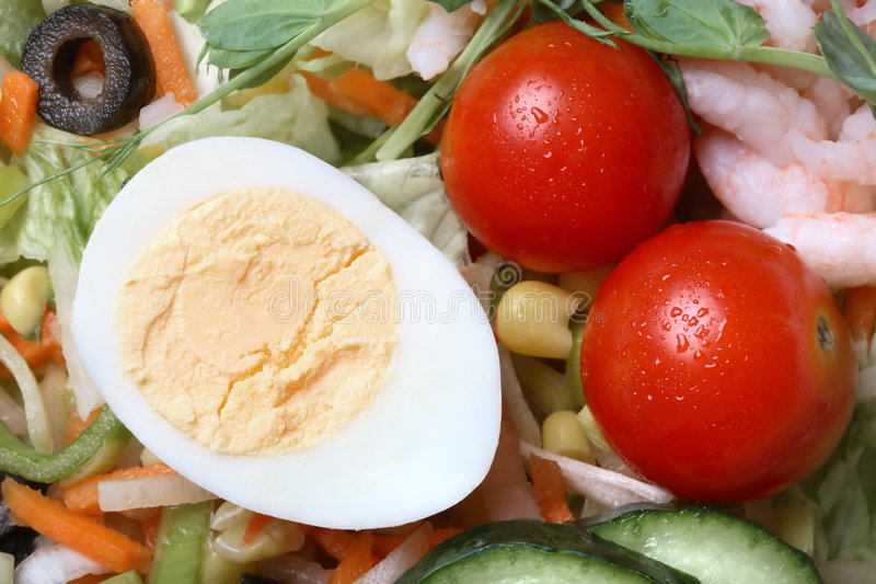 Close-up van salade stock foto