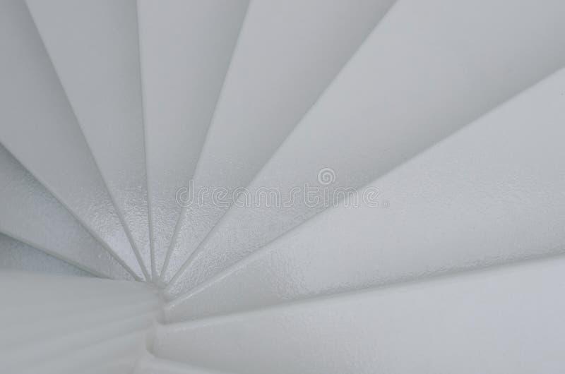 Close-up van spiraalvormige trede stock fotografie