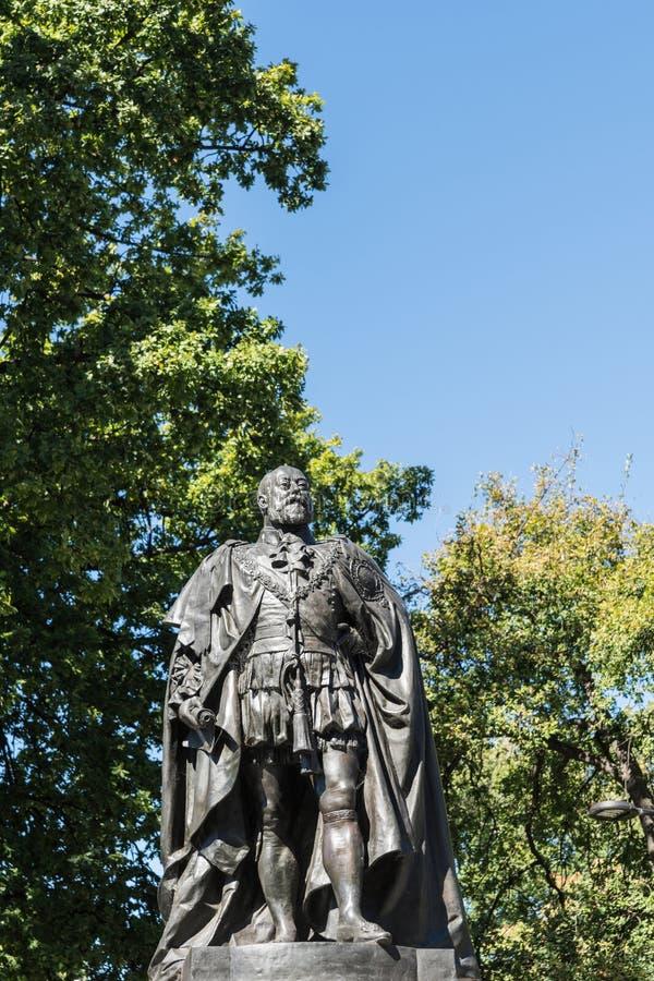 Close-up van Standbeeld van Koning Edward VII in Hobart, Australië stock foto's