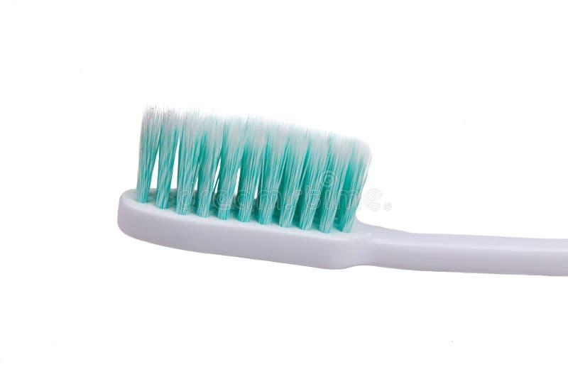 Close-up van tandenborstel met zacht en slank verminderd varkenshaar royalty-vrije stock fotografie