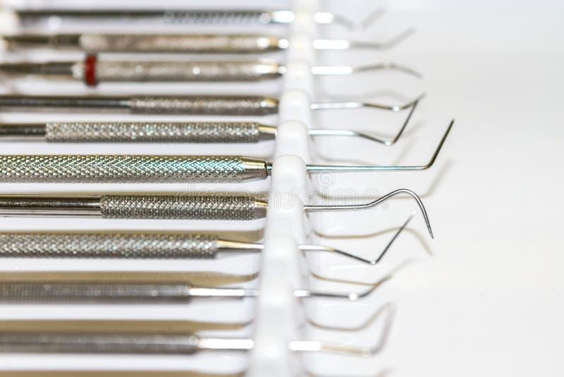 Close-up van tandinstrumenten royalty-vrije stock afbeeldingen