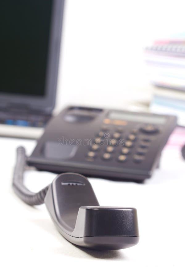 Close-up van telefoonhandvat. stock afbeelding