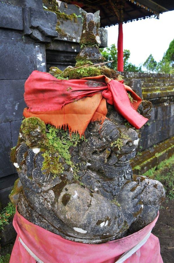 Close-up van traditioneel Balinees Godsstandbeeld stock afbeeldingen