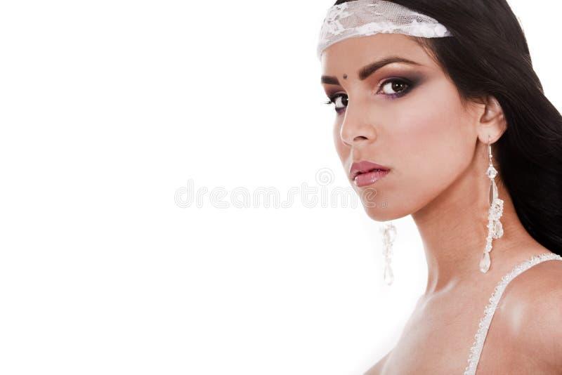 Close-up van traditionele Aziatische bruid stock foto's