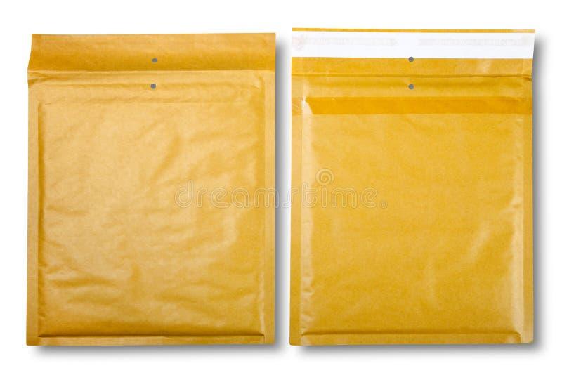 Close-up van twee enveloppen. royalty-vrije stock afbeelding