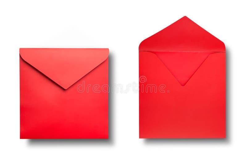 Close-up van twee enveloppen. stock afbeeldingen