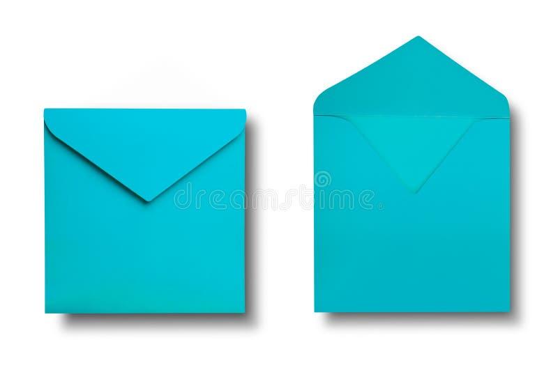 Close-up van twee enveloppen. royalty-vrije stock foto's
