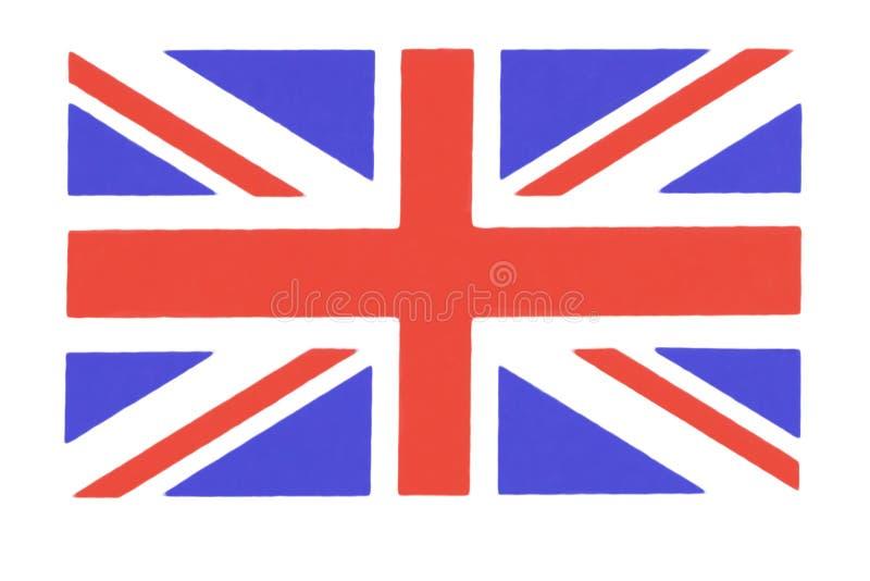 Close-up van Union Jack-vlag rode achtergrond britishflag vector illustratie