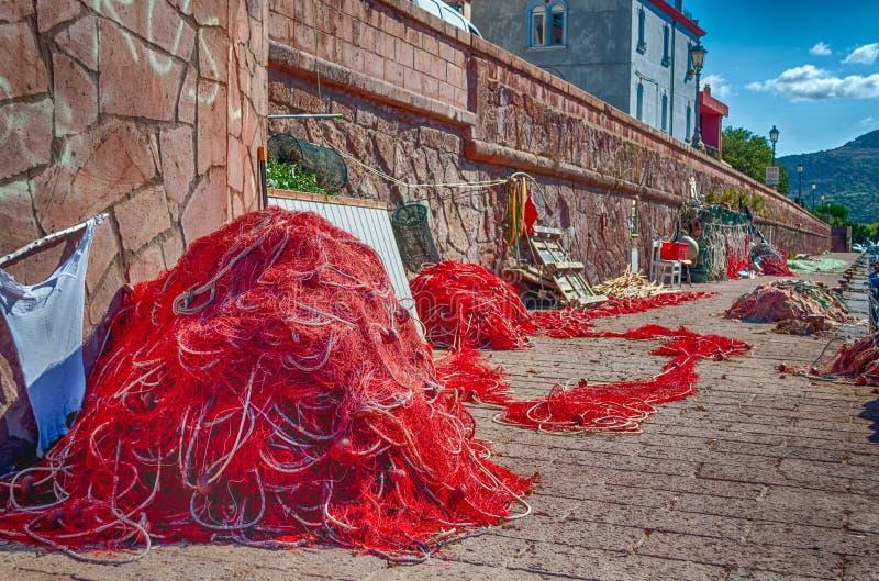 Close-up van visnet in een haven royalty-vrije stock foto