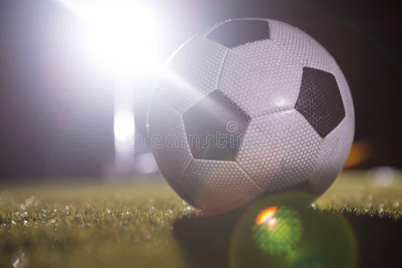 Close-up van voetbalbal royalty-vrije stock foto