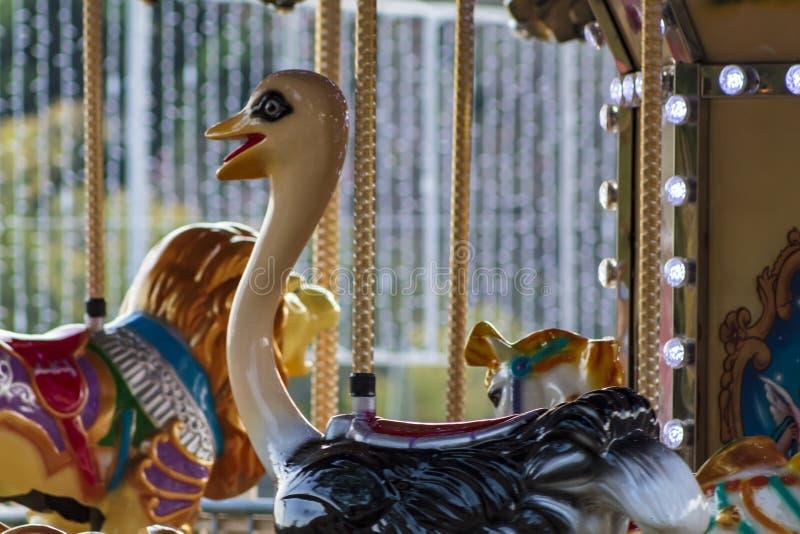 Close-up van vrolijk-gaan-Ronde Carrousel royalty-vrije stock foto