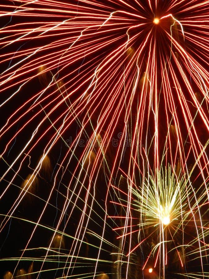 Close-up van vuurwerk royalty-vrije stock foto's