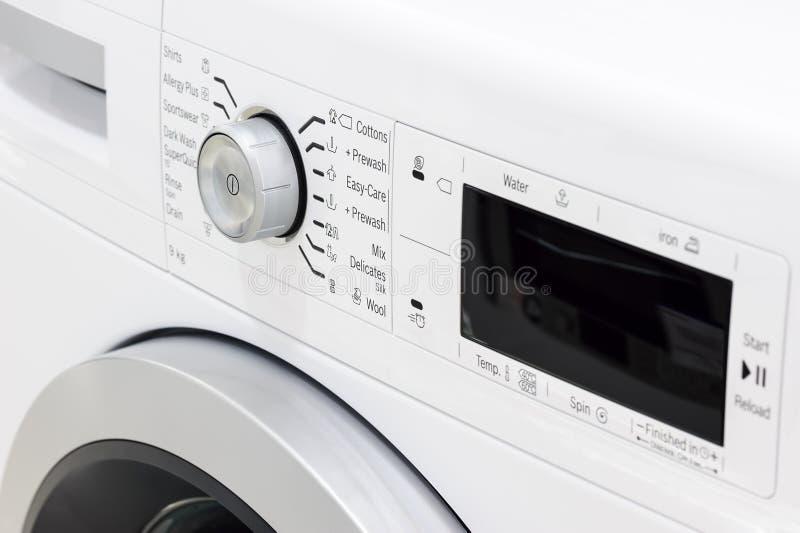 Close-up van wasserij of wasmachine royalty-vrije stock afbeelding