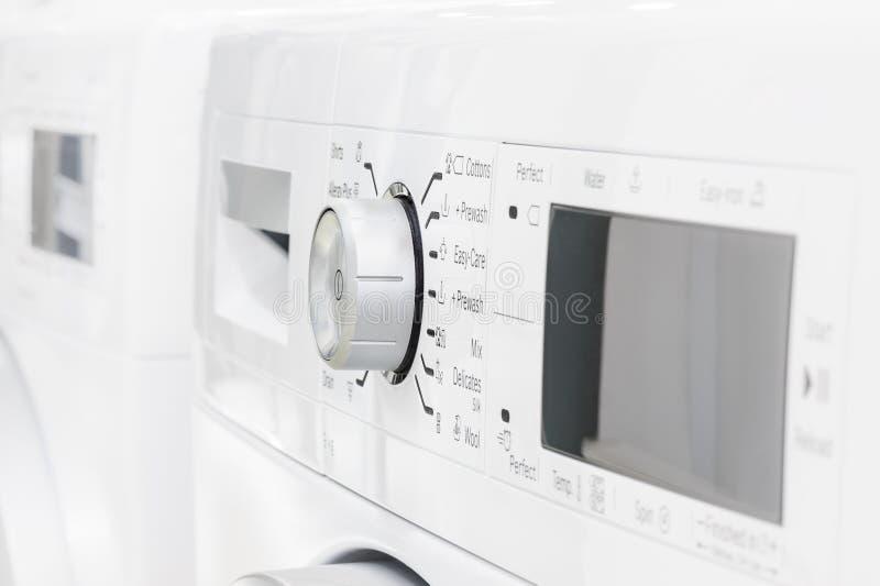 Close-up van wasserij of wasmachine stock foto's