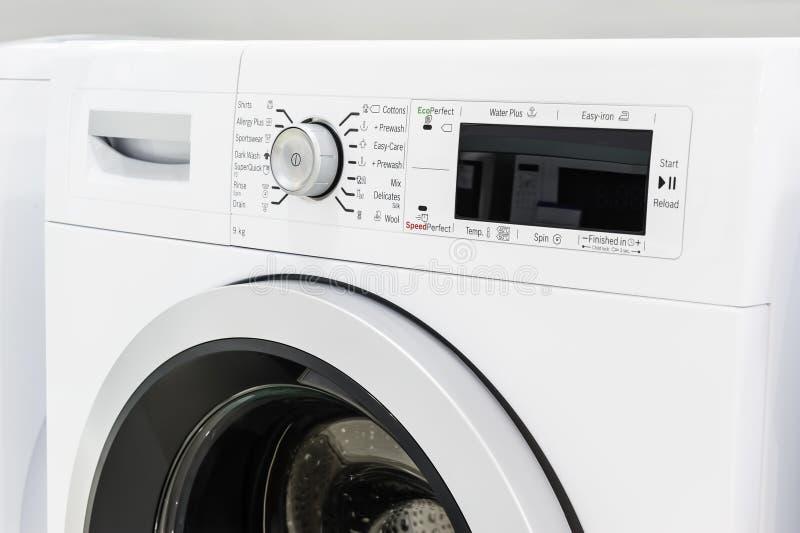 Close-up van wasserij of wasmachine stock afbeelding