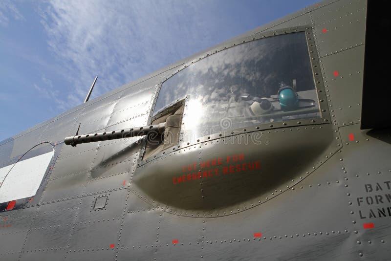 Close-up van Wereldoorlog II B-25 Bommenwerper Mitchell stock foto