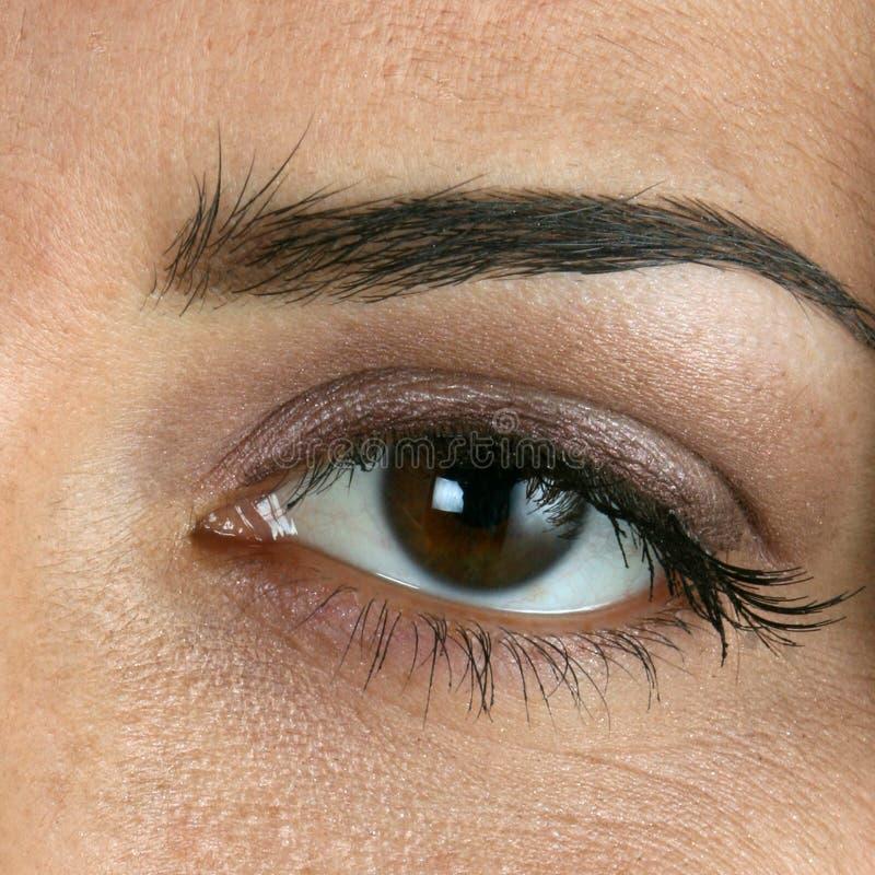 Close-up van womansoog royalty-vrije stock afbeeldingen